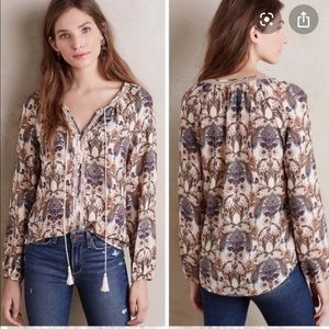 Anthropologie Meadow rue myrtle paisley blouse top